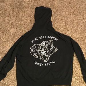 SKETCHY TANK ,black panther hoodie
